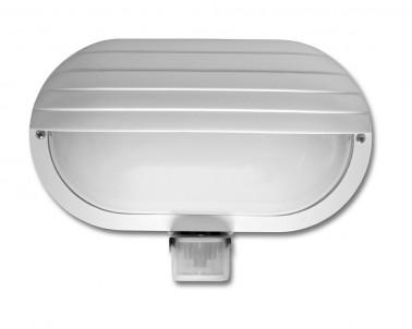 Venkovní nástěnné svítidlo NEPTUN 2 WHST69-BI 60W E27 se senzorem bílé Ecoplanet