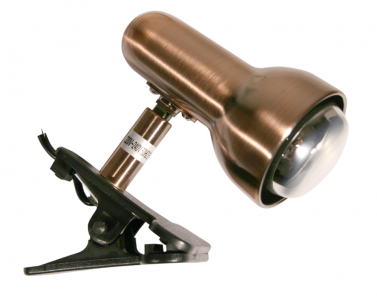 Stolní lampa se skřipcem CLIP 520/KL 40W E14 R50 měď Nipeko