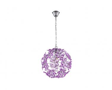 Stropní závěsní svítidlo PURPLE 5148 60W E27 květy Globo
