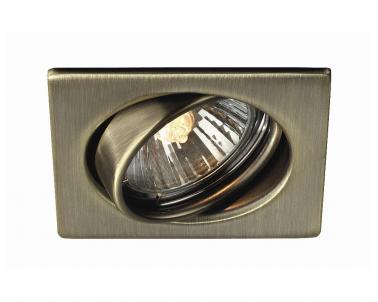 Zápustné bodové výklopné svítidlo QUARTZ 59323/06/10 50W GU10 bronz Massive