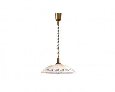 Závěsné stahovací svítidlo ETRUSCO 7640 60W E27 zlatá-hnědá Rabalux