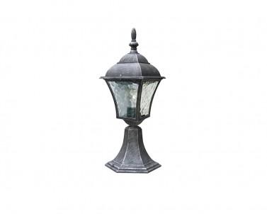 Venkovní sloupkové svítidlo TOSCANA 8398 60W E27 antik stříbrná IP43 Rabalux