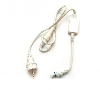 Napájecí zdrojový kabel 014-419 bílý 480W 1,5m MK Illumation