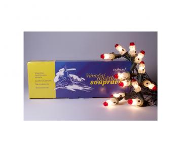 Vánoční vnitřní klasická souprava 162113 sněhulák bílý 12 žárovek 12V/0,1A Exihand