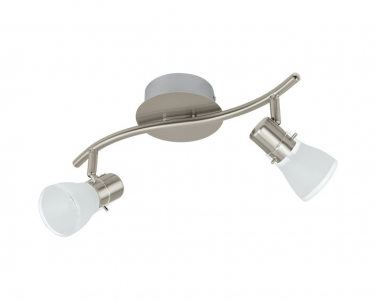 Nástěnné LED bodové svítidlo PASTENA 93832 2x5W LED matný nikl Eglo