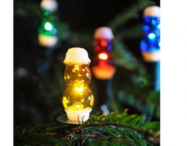 Vánoční vnitřní klasická souprava 162112 sněhulák barevný 12 žárovek 12V/0,1A Exihand