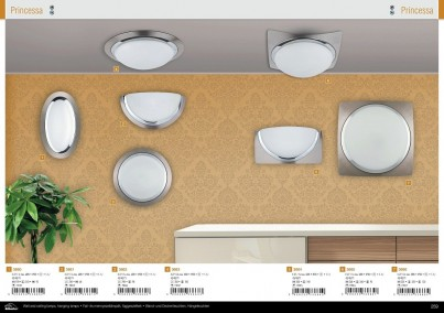 Stropní přisazené svítidlo PRINCESSA 3666 2x40W E27 Rabalux - interiér