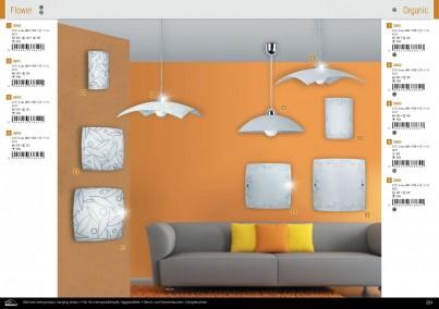 Stropní přisazené svítidlo ORGANIC 3863 2x60W E27 vzor Rabalux - kolekce