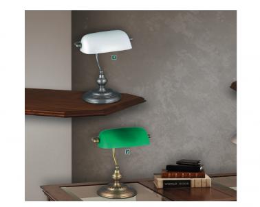 Stolní lampa BANK 4037 60W E27 satén chrom Rabalux - varianty