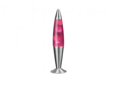 Stolní lávová lampa LOLLIPOP2 růžovo-průhledná Rabalux