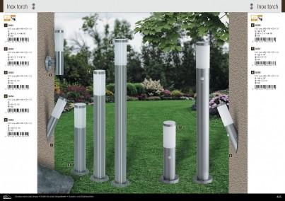 Venkovní sloupkové svítidlo INOX TORCH 8267 60W E27 se senzorem Rabalux - kolekce