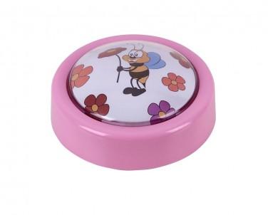 Přenosné LED dětské svítidlo SWEET PUSH LIGHT 4709 0,3W růžové  Rabalux