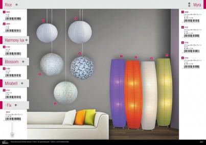 Stojací papírová lampa MYRA 4722 2x60W E27 oranžová Rabalux