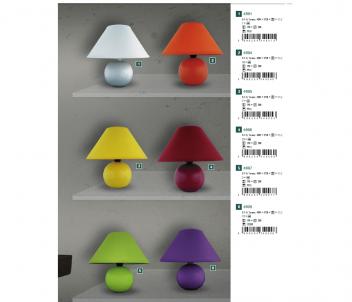 Stolní keramická lampa ARIEL 4920 40W E14 fialová Rabalux - kolekce