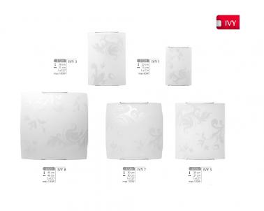 Stropní přisazené svítidlo IVY 7 3726 1x100W E27 vzor Nowodvorski - kolekce