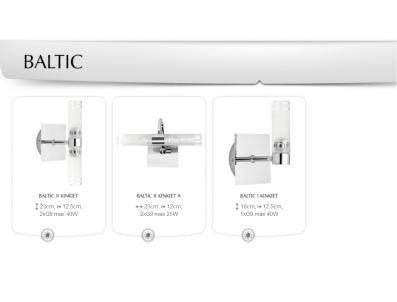 Koupelnové nástěnné svítidlo BALTIC II kinkiet A 4386 2x25W G9 IP44 Nowodvorski - typy