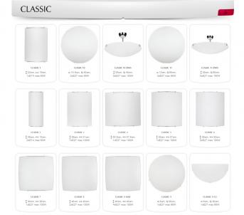 Stropní přisazené svítidlo CLASSIC 7 1135 1x100W E27 Nowodvorski - kolekce