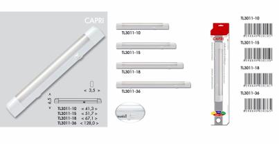 Přisazené svítidlo pod kuch.linku CAPRI TL3011-18 bílé 18W T8 Ecoplanet - typy