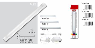 Přisazené svítidlo pod kuch.linku SLICK TL2001-13 bílé 13W T5 Ecoplanet - typy