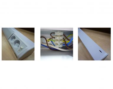 Přisazené svítidlo pod kuch.linku ROSA TL3020-15 bílé 15W T8 + 2xzásuvka Ecoplanet - detail