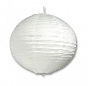 Stropní závěsné papírové svítidlo GLOBE DHL400-12 60W E27 bílé 30cm Ecoplanet