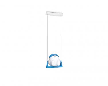 Závěsné dětské svítidlo BUDDY SWING 41070/35/16 15W E27 modré Philips