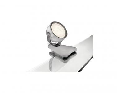 Stolní LED lampička se skřipcem DYNA 53231/99/16 4W šedá Philips