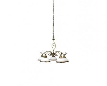 Závěsné rustikální svítidlo ELISETT 2755 5x60W E27 bronz Rabalux
