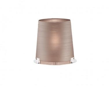 Stolní designová lampa TORRE 3055904 18W E27 skleněná staro-růžová Viokef