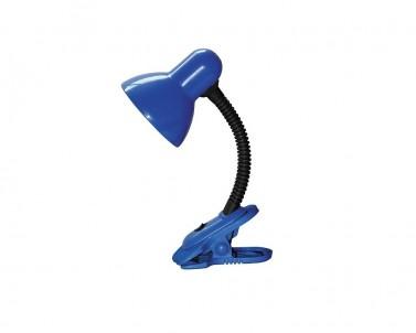 Stolní lampa se skřipcem DENNIS 4260 40W E27 modrá Rabalux
