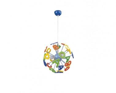 Stropní závěsné dětské svítidlo ABC 4716 3x40W E14 Rabalux