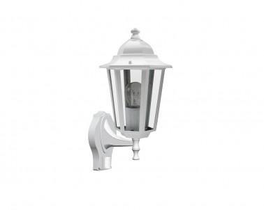 Venkovní nástěnné svítidlo VELENCE 8216 60W E27 se senzorem bílé IP43 Rabalux