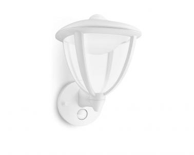 Venkovní LED nástěnné svítidlo ROBIN 15479/31/16 4,5W bílé se senzorem IP44 Philips