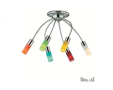 Stropní dětské bodové svítidlo ECOFLEX PL6 044538 6x9W E14 chrom Ideal lux