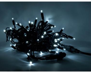Vánoční profi LED řetěz venkovní 12m 120xLED LEDPLR-120-230VSW-WH 018-358 MK-Illumination