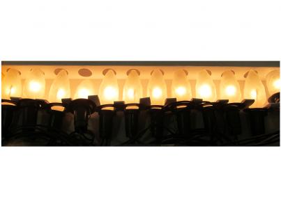 Vánoční vnitřní klasická souprava 162117 ŠIŠKA limba bílá 12 žárovek 12V/0,1A Exihand