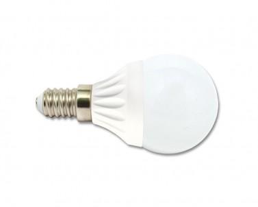 LED žárovka 5W E14  LED5W-G45/E14/4100 mini globe studená bílá Ecoplanet