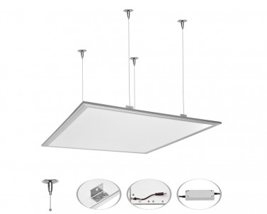 Závěsný systém pro LED svítidlo ZEUS LED-GPL44-ZAVES hliník Ecoplanet