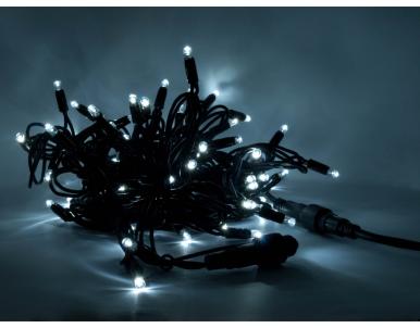 Vánoční venkovní LED světelný řetěz SLN120 120xLED 20m studeně bílá DecoLED