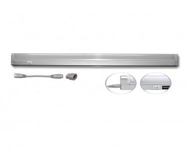 Přisazené svítidlo pod kuch.linku SLICK TL2001-08/STR stříbrné 8W T5 Ecoplanet
