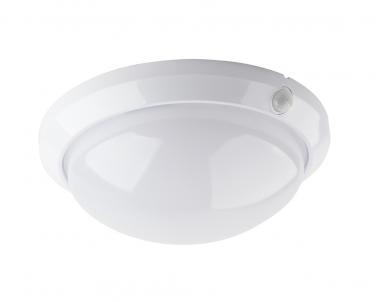 Venkovní nástěnné svítidlo FLAVIA W121-BI 60W E27 se senzorem bílé Ecoplanet