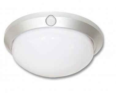 Venkovní nástěnné svítidlo FLAVIA W121-STR 60W E27 se senzorem stříbrné Ecoplanet