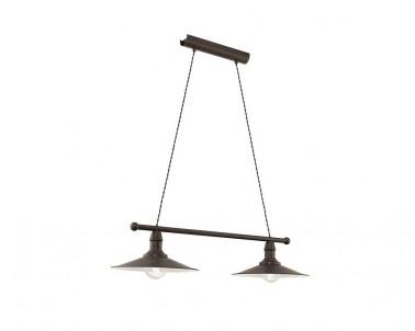 Závěsné chalupářské svítidlo STOCKBURRY 49457 2x60W E27 hnědá Eglo