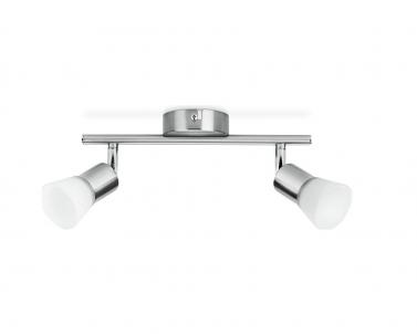 Nástěnné LED bodové svítidlo DECAGON 50252/17/E1 2x4,3W matný chrom Philips