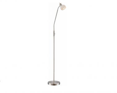 Stojací LED lampa ELLIOTT 54341-1S 4W E14 LED matný nikl Globo