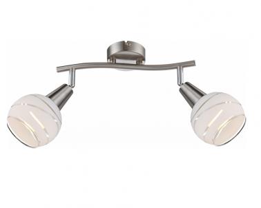 Nástěnné LED bodové svítidlo ELLIOTT 54341-2 LED 2x4W E14 matný nikl Globo
