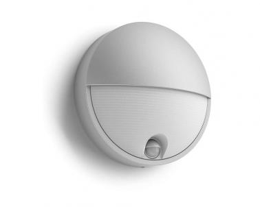 Venkovní LED nástěnné svítidlo CAPRICORN 16456/87/16 LED 6W se senzorem šedé IP44 Philips
