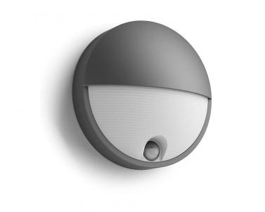 Venkovní LED nástěnné svítidlo CAPRICORN 16456/93/16 LED 6W se senzorem antracit IP44 Philips