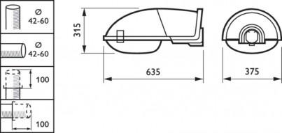 Pouliční svítidlo MALAGA SGS102 SON-T 100W č.2