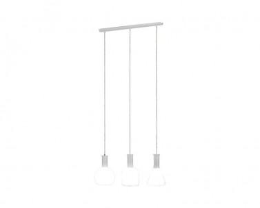 Závěsné stropní svítidlo PASCOA Eglo 3x60 W sklo/bílá 39141